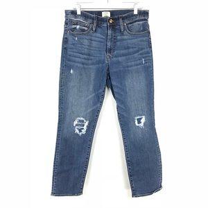 J. Crew Sz 31 Vintage Straight Leg Jean Distressed